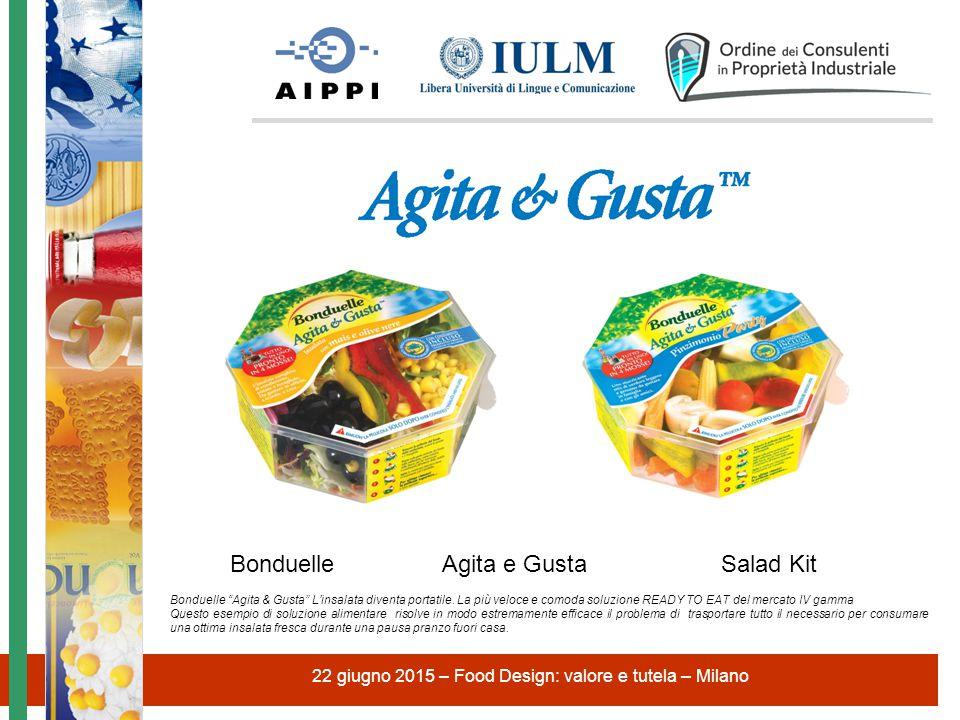 "22 giugno 2015 – Food Design: valore e tutela – Milano Bonduelle Agita e Gusta Salad Kit Bonduelle ""Agita & Gusta"" L'insalata diventa portatile. La pi"