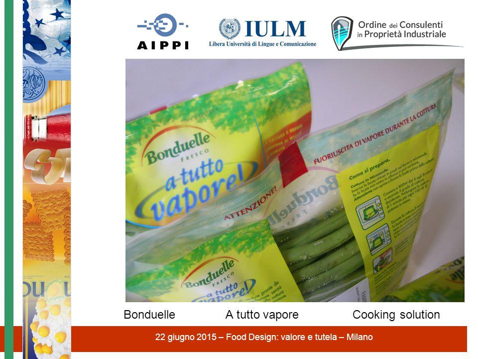 22 giugno 2015 – Food Design: valore e tutela – Milano Bonduelle A tutto vapore Cooking solution