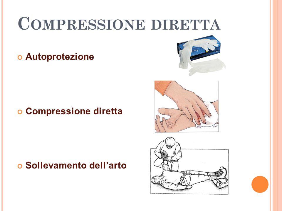 C OMPRESSIONE DIRETTA Autoprotezione Compressione diretta Sollevamento dell'arto