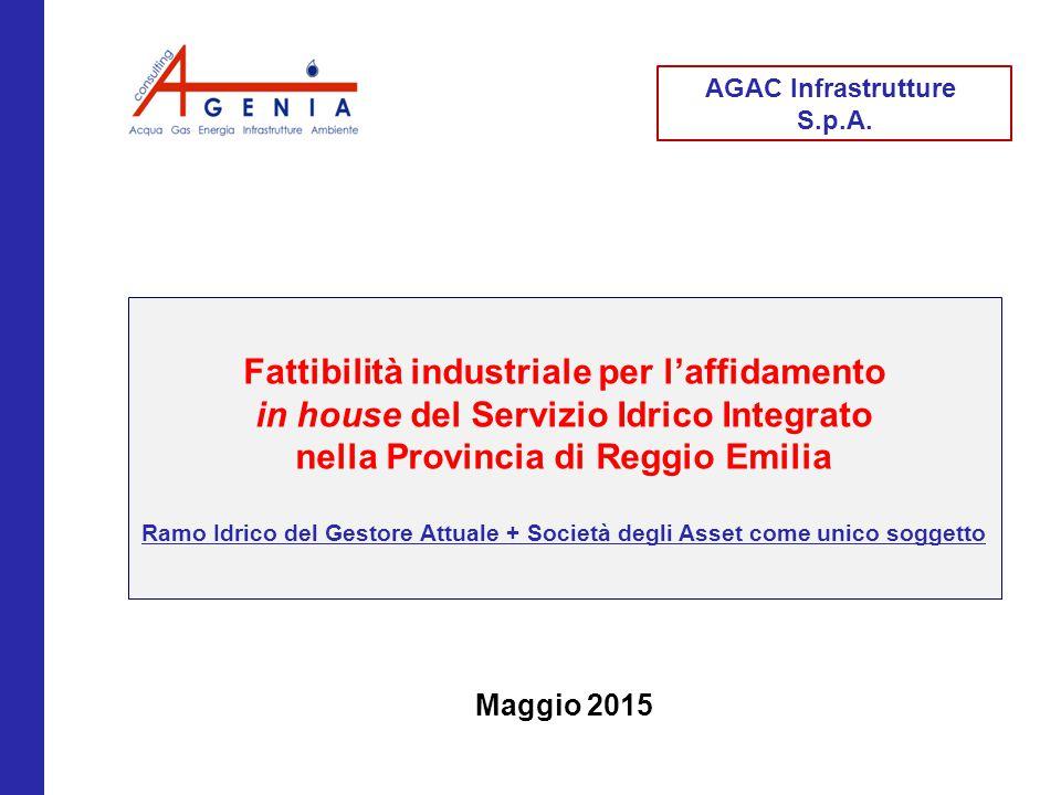 2 Premessa AGAC Infrastrutture, ai sensi dell'articolo 113 del Testo unico degli Enti Locali, è la titolare delle reti, degli impianti e delle dotazioni necessarie alla gestione del Servizio Idrico Integrato.