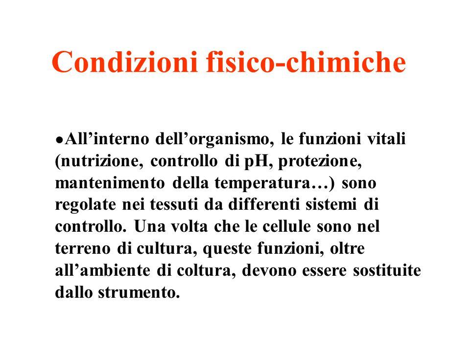 ● All'interno dell'organismo, le funzioni vitali (nutrizione, controllo di pH, protezione, mantenimento della temperatura…) sono regolate nei tessuti