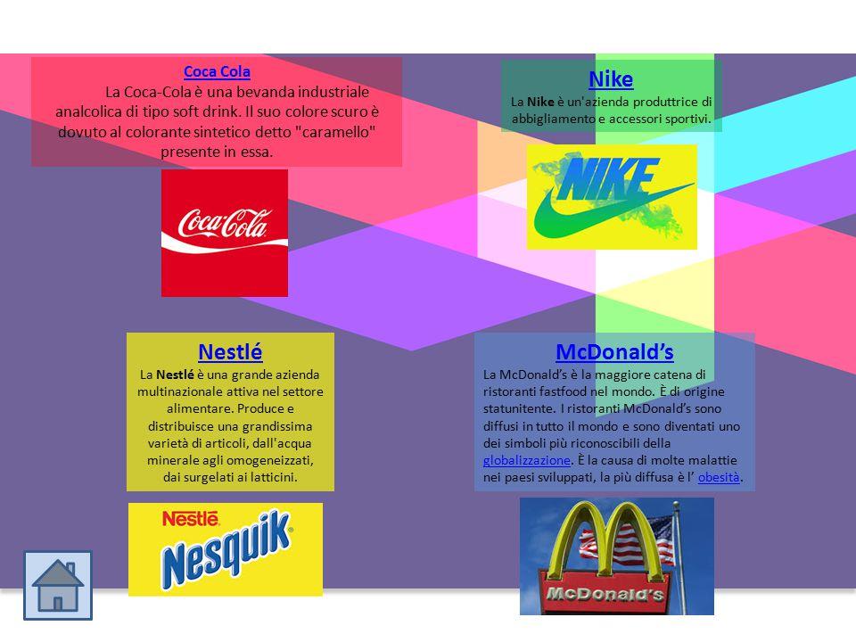 Coca Cola La Coca-Cola è una bevanda industriale analcolica di tipo soft drink. Il suo colore scuro è dovuto al colorante sintetico detto