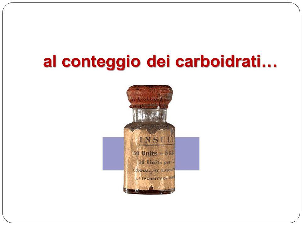 al conteggio dei carboidrati…