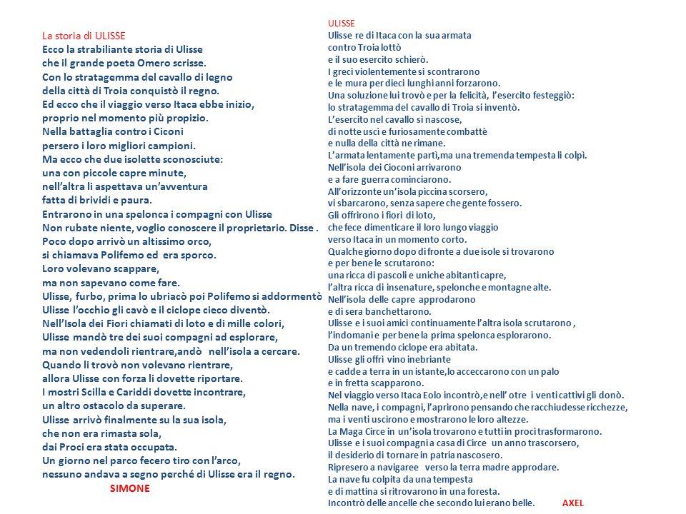 16 La storia di ULISSE Ecco la strabiliante storia di Ulisse che il grande poeta Omero scrisse.
