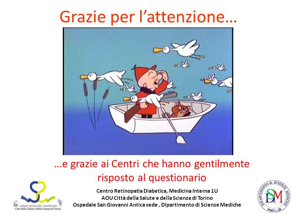 Centro Retinopatia Diabetica, Medicina Interna 1U AOU Città della Salute e della Scienza di Torino Ospedale San Giovanni Antica sede, Dipartimento di