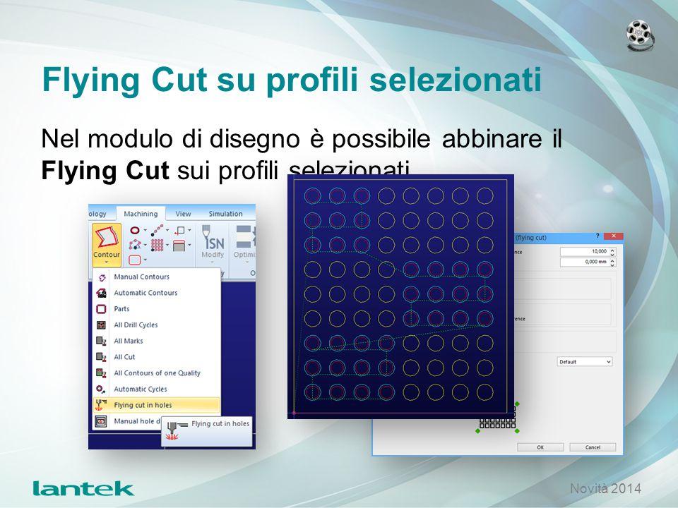 Flying Cut su profili selezionati Nel modulo di disegno è possibile abbinare il Flying Cut sui profili selezionati. Novità 2014