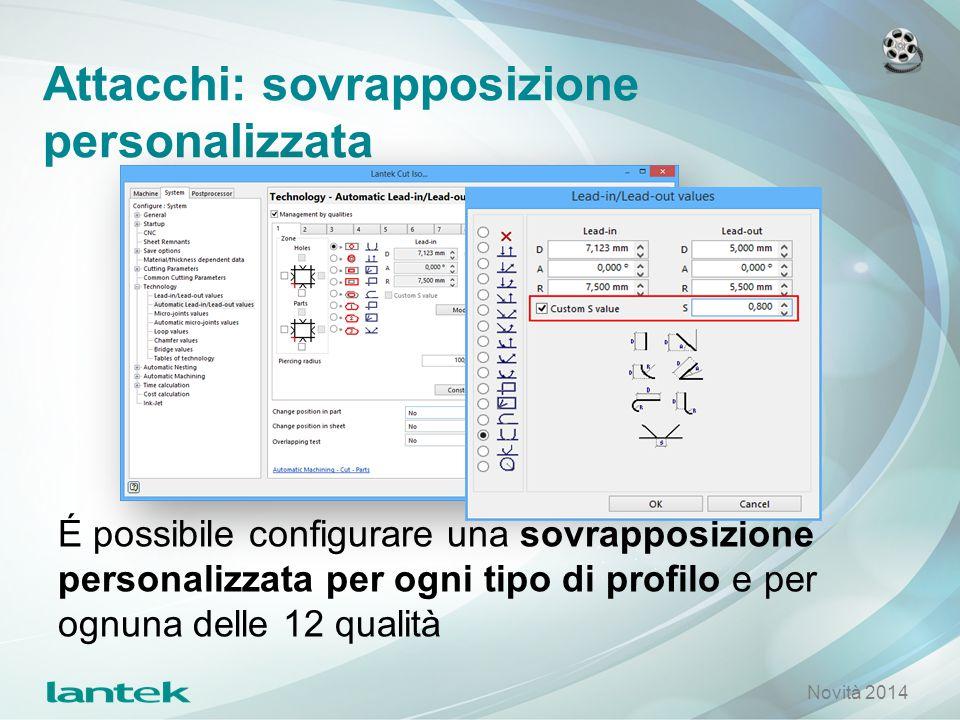 Attacchi: sovrapposizione personalizzata É possibile configurare una sovrapposizione personalizzata per ogni tipo di profilo e per ognuna delle 12 qua