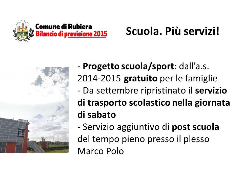 - Progetto scuola/sport: dall'a.s.