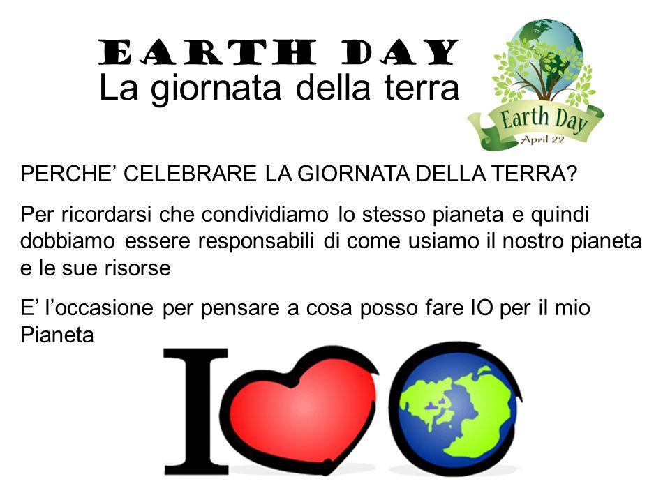 EARTH DAY La giornata della terra Coltivo un orto, pianto fiori e alberi