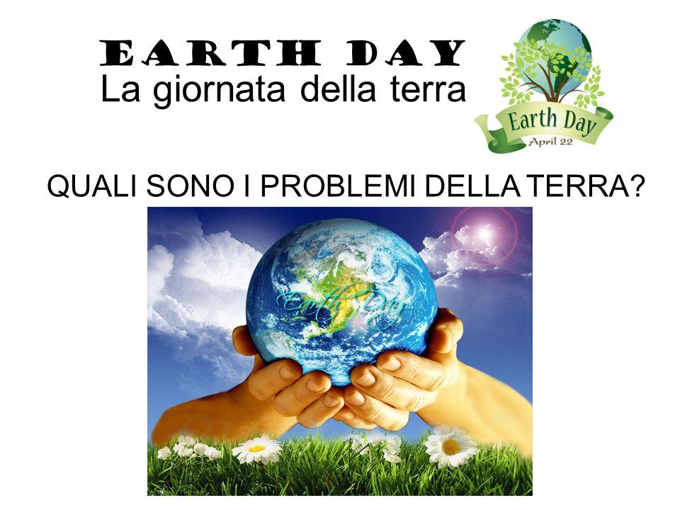 INQUINAMENTO DELL'ARIA, DELL'ACQUA, DEL SUOLO…. EARTH DAY La giornata della terra
