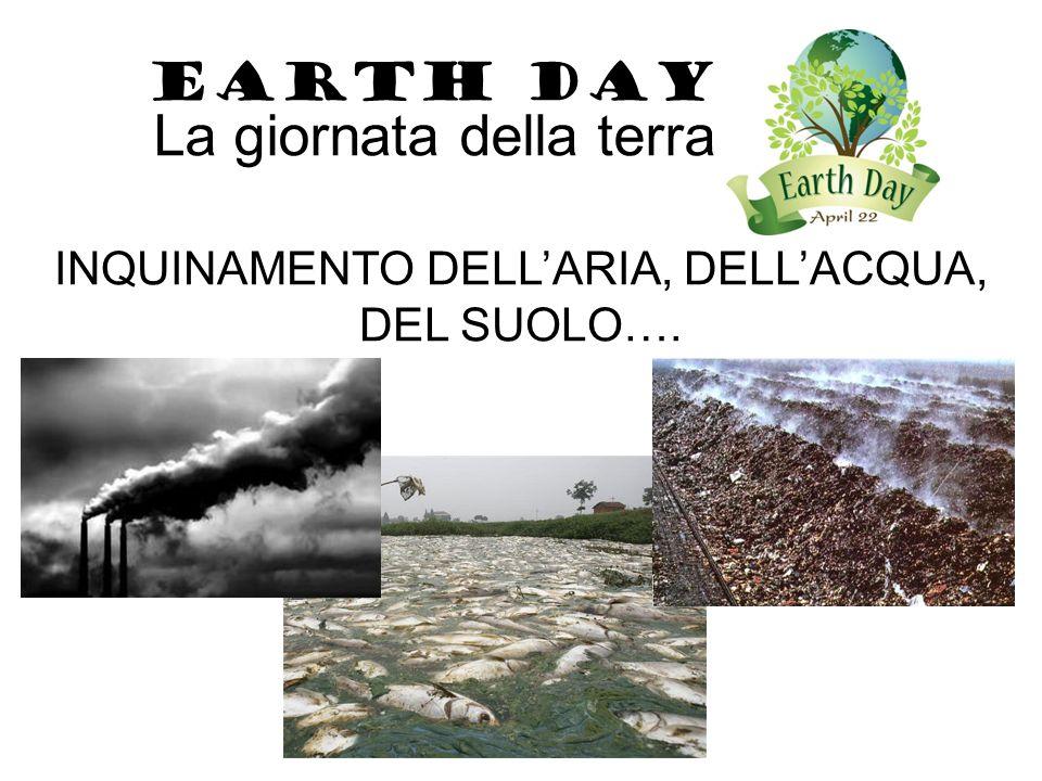 EARTH DAY La giornata della terra Ricordo che… OGNI GIORNO E' IL GIORNO DELLA TERRA!