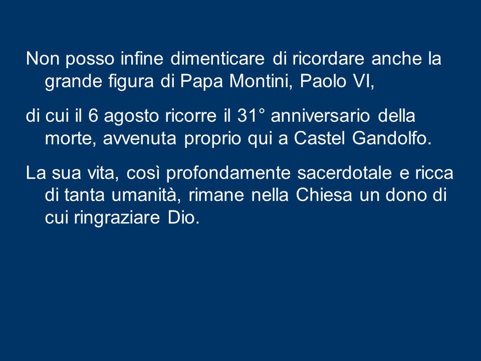 Il 7 agosto, poi, sarà la memoria di san Gaetano da Thiene, il quale soleva ripetere che non con l'amore sentimentale, ma con l'amore dei fatti si purificano le anime .