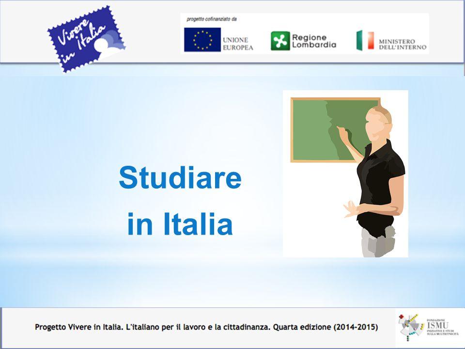 In Italia esistono corsi di istruzione e formazione anche per gli adulti (oltre i 16 anni).