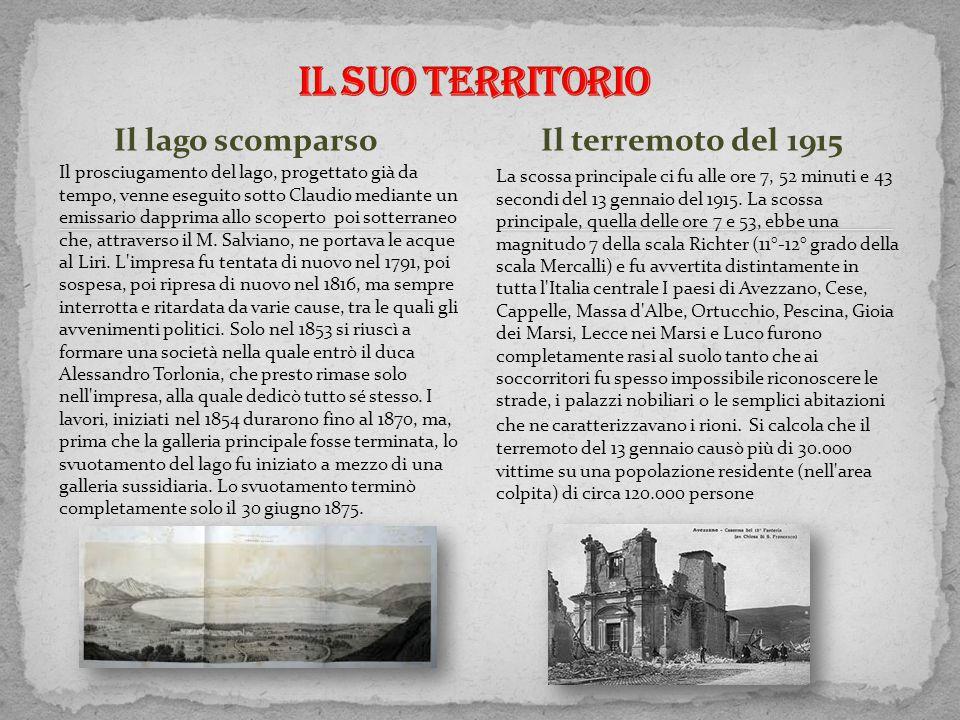 Il lago scomparso Il prosciugamento del lago, progettato già da tempo, venne eseguito sotto Claudio mediante un emissario dapprima allo scoperto poi s
