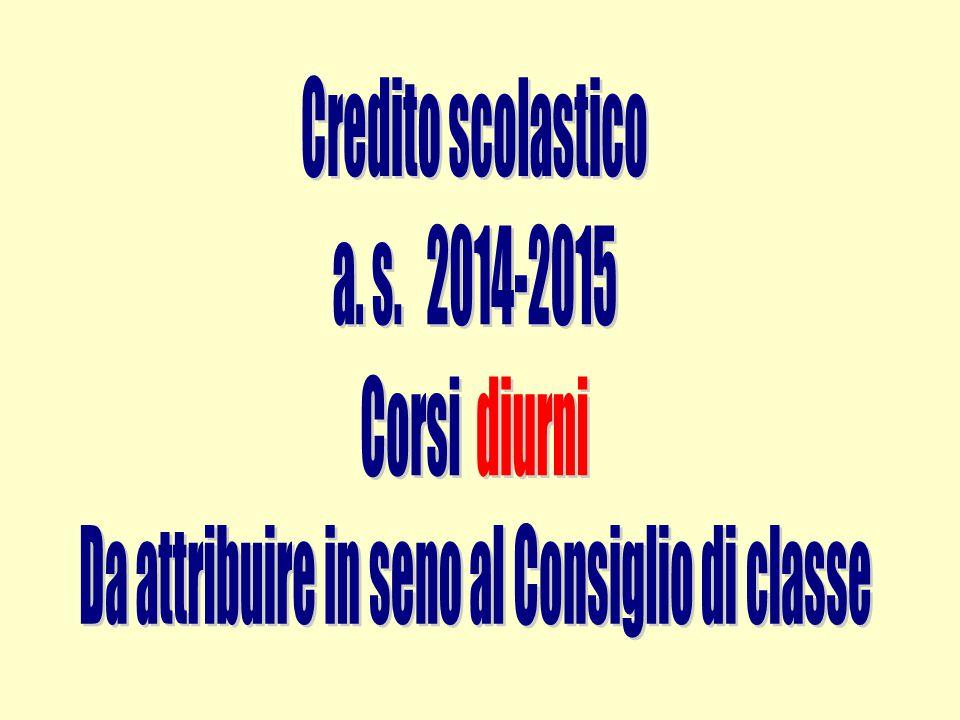 CLASSI TERZE, QUARTE e QUINTE COMPORTAMENTO 678 - 10 CREDITO (punteggio relativo alla banda di oscillazione) // Fino a 1 punto CREDITO SCOLASTICO