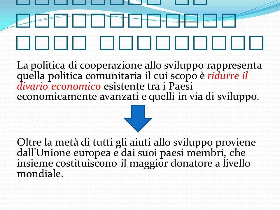 …Cos ' è la politica di cooperazione allo sviluppo.