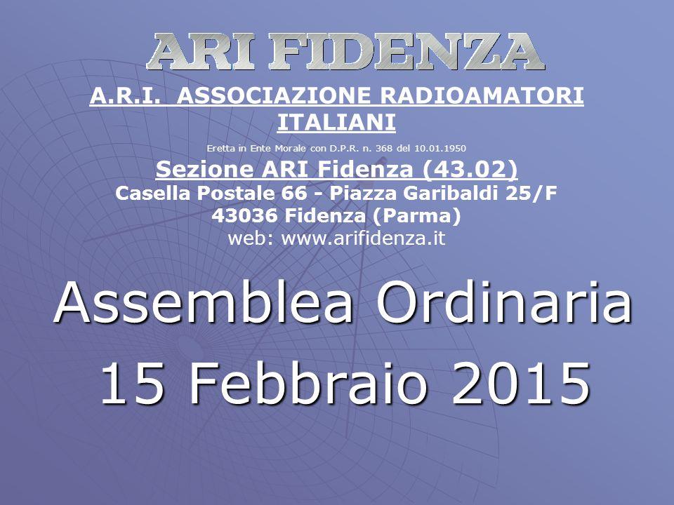 Assemblea Ordinaria 15 Febbraio 2015 A.R.I.