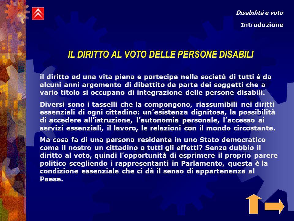 L'articolo 48 della costituzione italiana riconosce l'esercizio del voto a tutti i cittadini uomini e donne che hanno raggiunto la maggiore età .