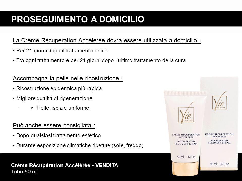 PROSEGUIMENTO A DOMICILIO Crème Récupération Accélérée - VENDITA Tubo 50 ml Accompagna la pelle nelle ricostruzione : Ricostruzione epidermica più rap