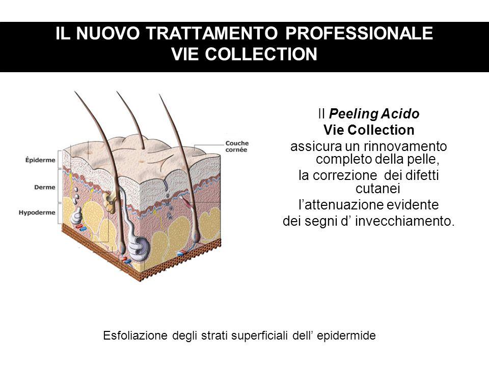 IL NUOVO TRATTAMENTO PROFESSIONALE VIE COLLECTION Il Peeling Acido Vie Collection assicura un rinnovamento completo della pelle, la correzione dei dif