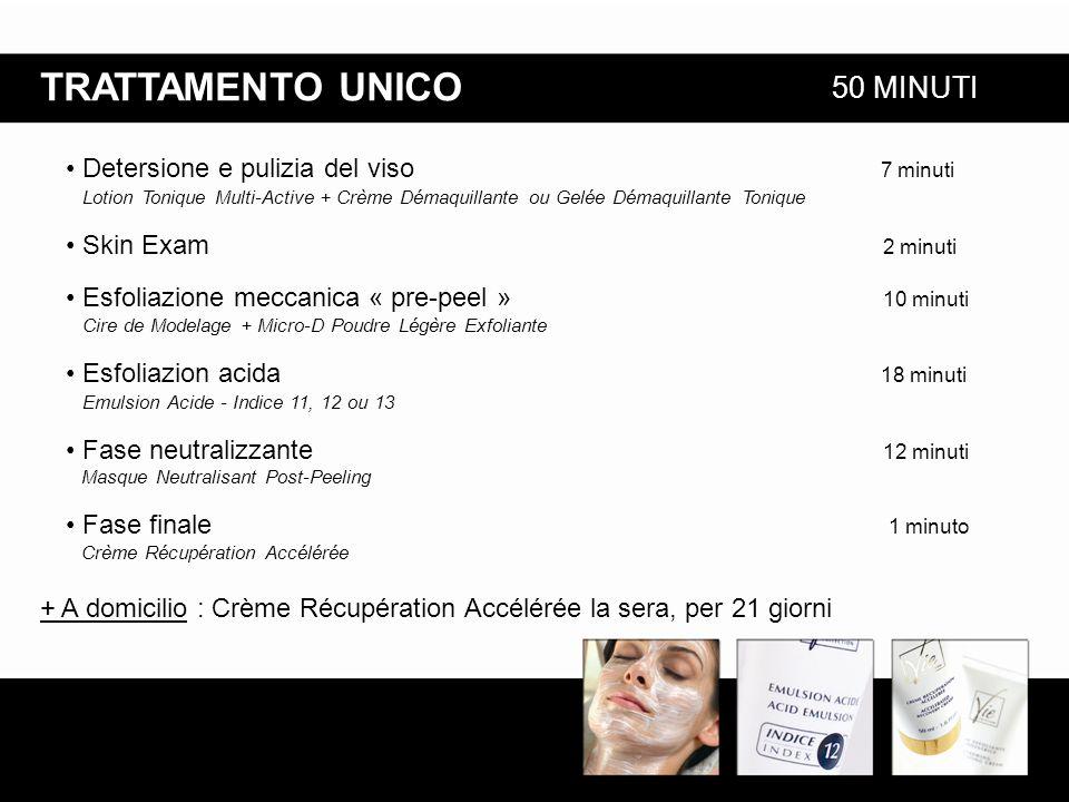Detersione e pulizia del viso 7 minuti Lotion Tonique Multi-Active + Crème Démaquillante ou Gelée Démaquillante Tonique Skin Exam 2 minuti Esfoliazion