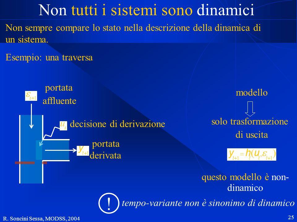 R. Soncini Sessa, MODSS, 2004 25 Non tutti i sistemi sono dinamici Non sempre compare lo stato nella descrizione della dinamica di un sistema. Esempio
