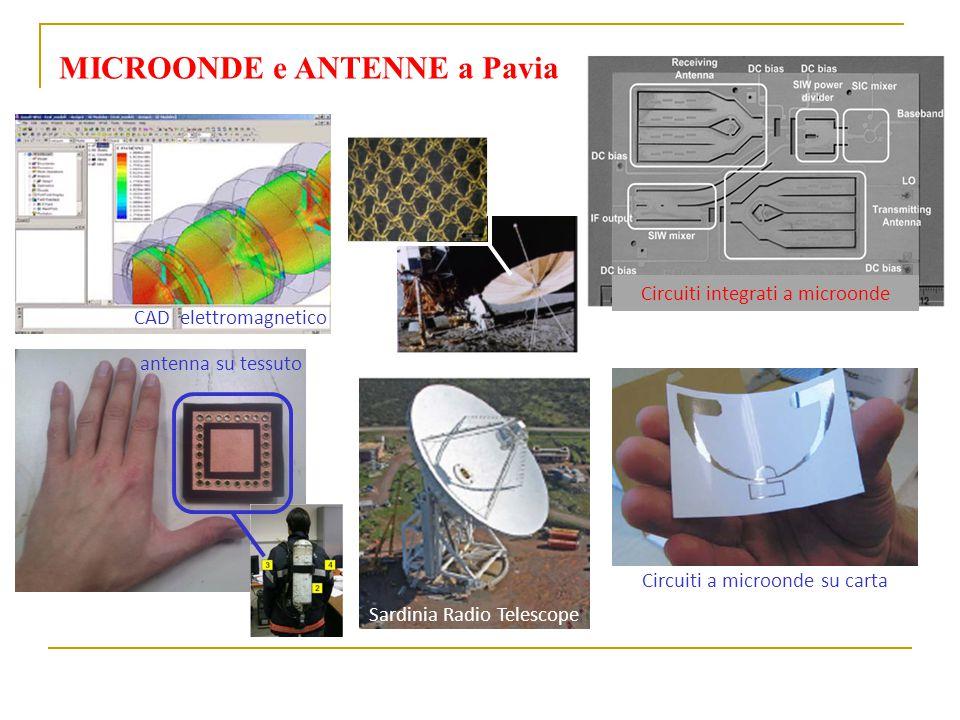 MICROONDE e ANTENNE a Pavia antenna su tessuto Sardinia Radio Telescope Circuiti a microonde su carta CAD elettromagnetico Circuiti integrati a microonde