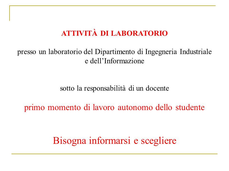 Crediti Formativi e Durata Attività di Laboratorio 6 CFU (1 CFU = 25 ore di attività svolta in Laboratorio) Argomenti.