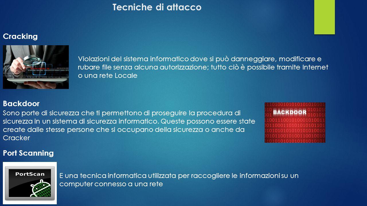 Principali Tecniche di difesa Antivirus: consente di proteggere il proprio pc da software dannosi conosciuti come virus Software facilmente reperibile sul web in versione freeware o a pagamento.