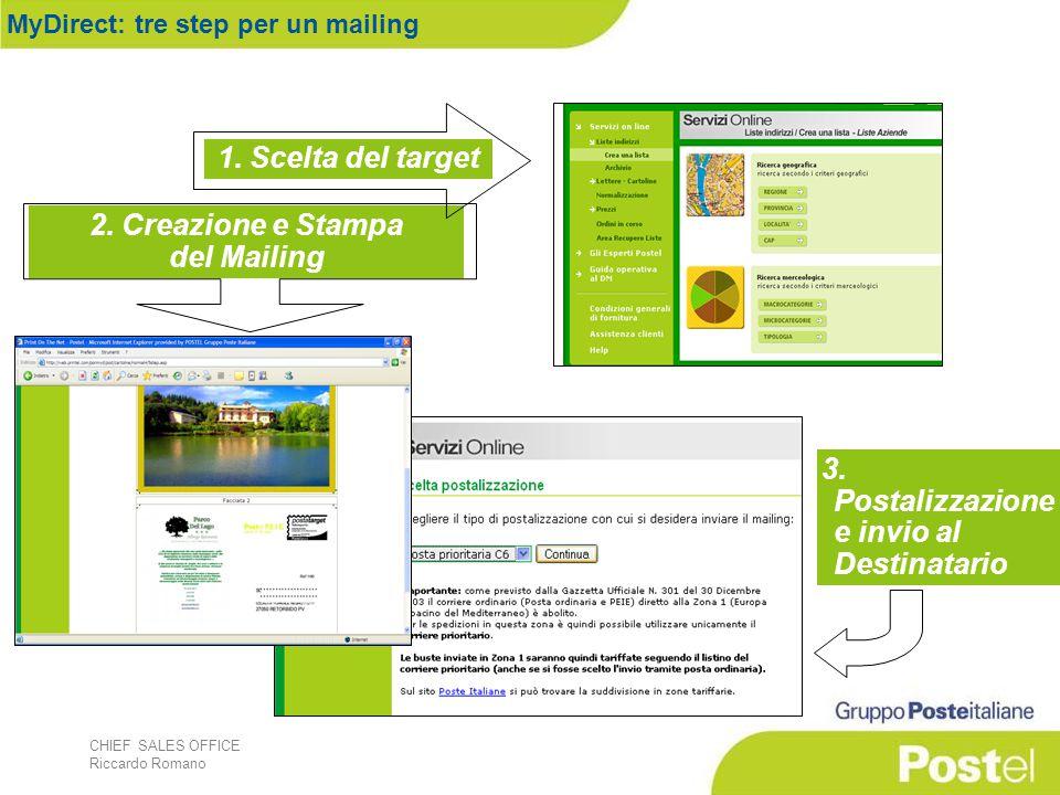 CHIEF SALES OFFICE Riccardo Romano 1. Scelta del target 2.