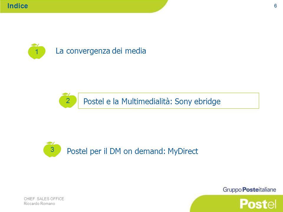 CHIEF SALES OFFICE Riccardo Romano La Guida operativa fornisce informazioni e strumenti per la progettazione e gestione di una campagna di Direct Marketing.