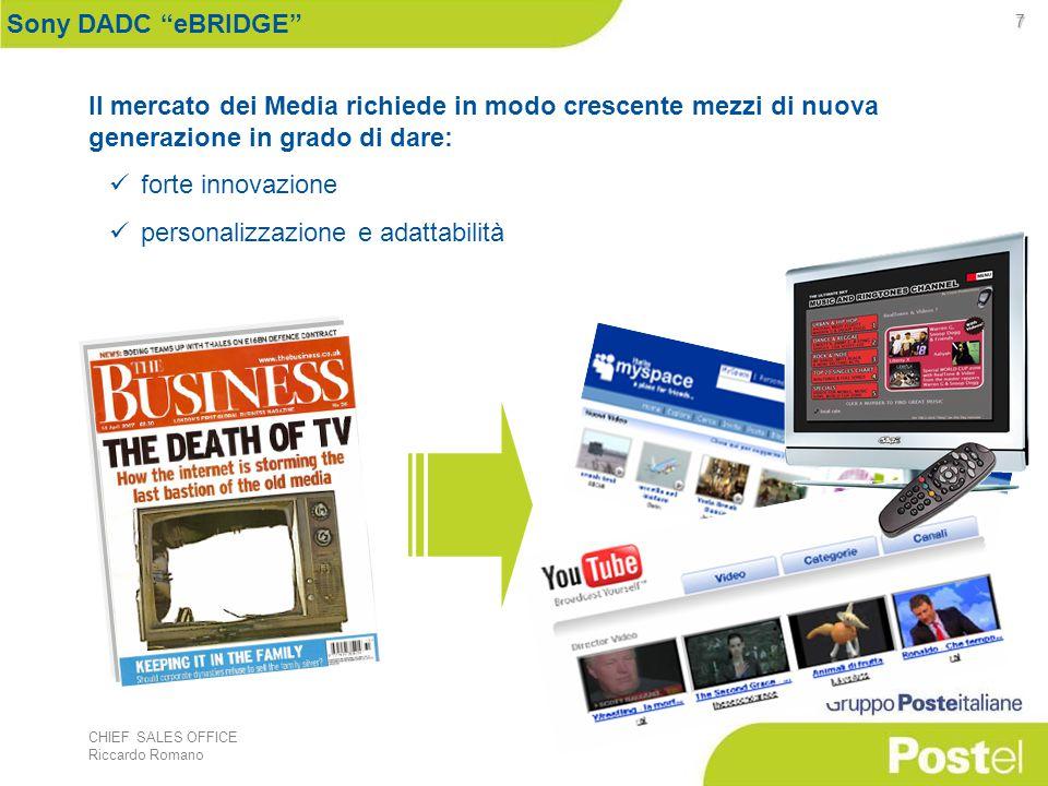 """CHIEF SALES OFFICE Riccardo Romano 7 Sony DADC """"eBRIDGE"""" Il mercato dei Media richiede in modo crescente mezzi di nuova generazione in grado di dare:"""