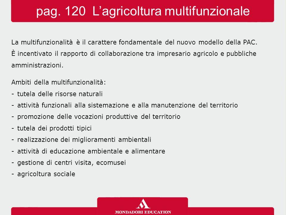 La multifunzionalità è il carattere fondamentale del nuovo modello della PAC.