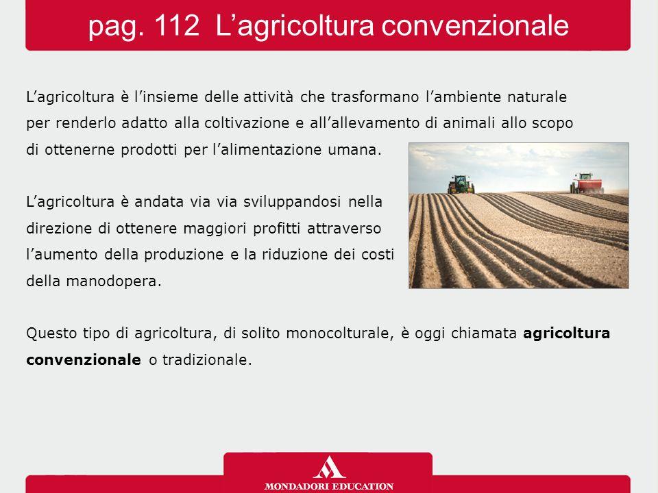 L'agricoltura è l'insieme delle attività che trasformano l'ambiente naturale per renderlo adatto alla coltivazione e all'allevamento di animali allo scopo di ottenerne prodotti per l'alimentazione umana.