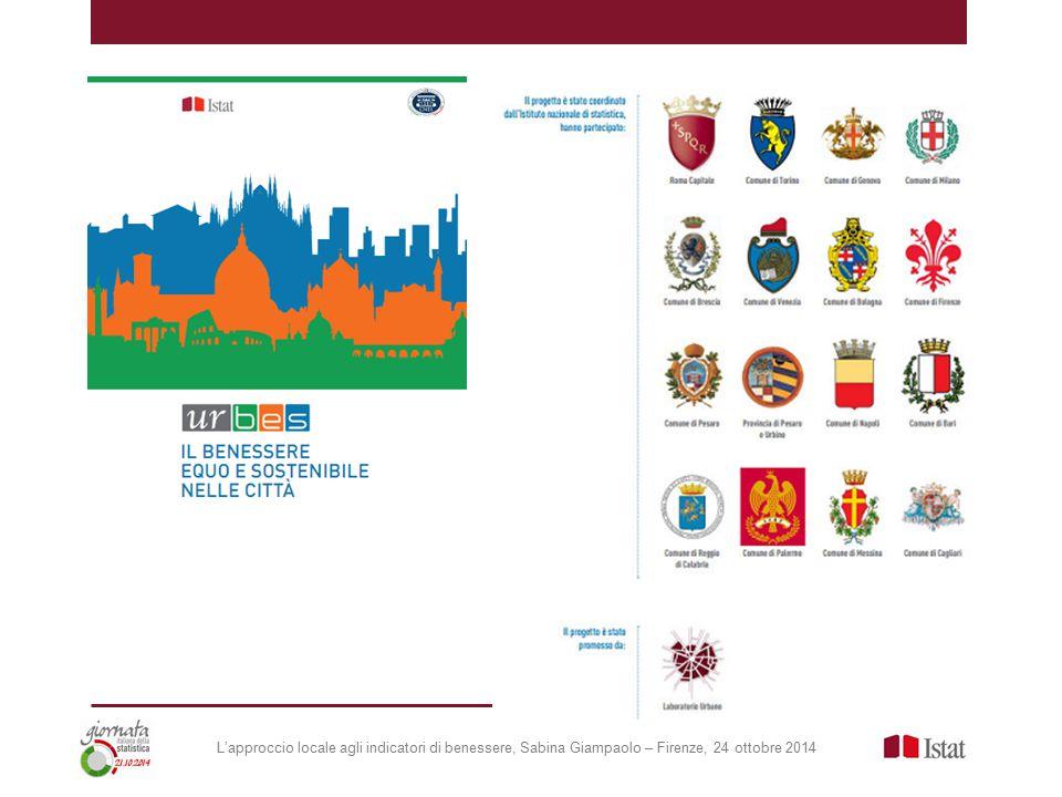 L'approccio locale agli indicatori di benessere, Sabina Giampaolo – Firenze, 24 ottobre 2014