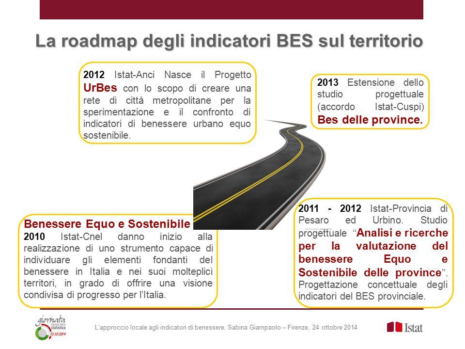 Benessere Equo e Sostenibile 2010 Istat-Cnel danno inizio alla realizzazione di uno strumento capace di individuare gli elementi fondanti del benessere in Italia e nei suoi molteplici territori, in grado di offrire una visione condivisa di progresso per l'Italia.