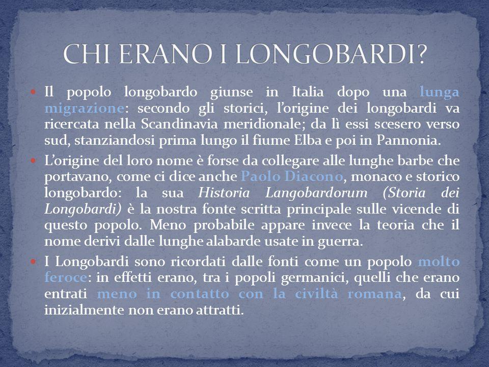 Il popolo longobardo giunse in Italia dopo una lunga migrazione: secondo gli storici, l'origine dei longobardi va ricercata nella Scandinavia meridion