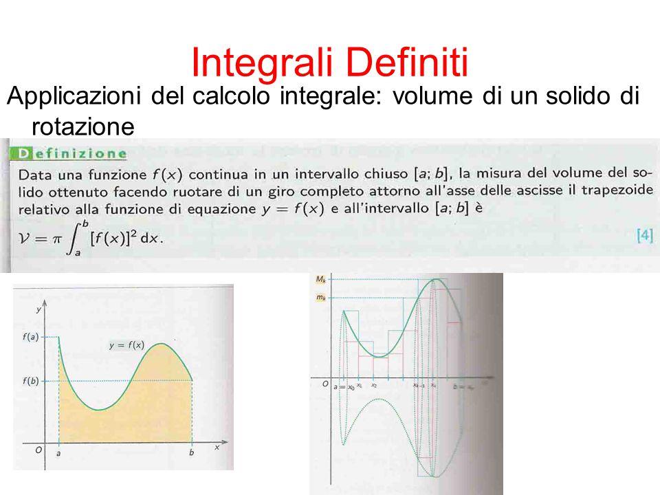 Integrali Definiti Applicazioni del calcolo integrale: lunghezza di un arco di curva piana