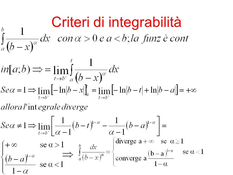 Criteri di integrabilità