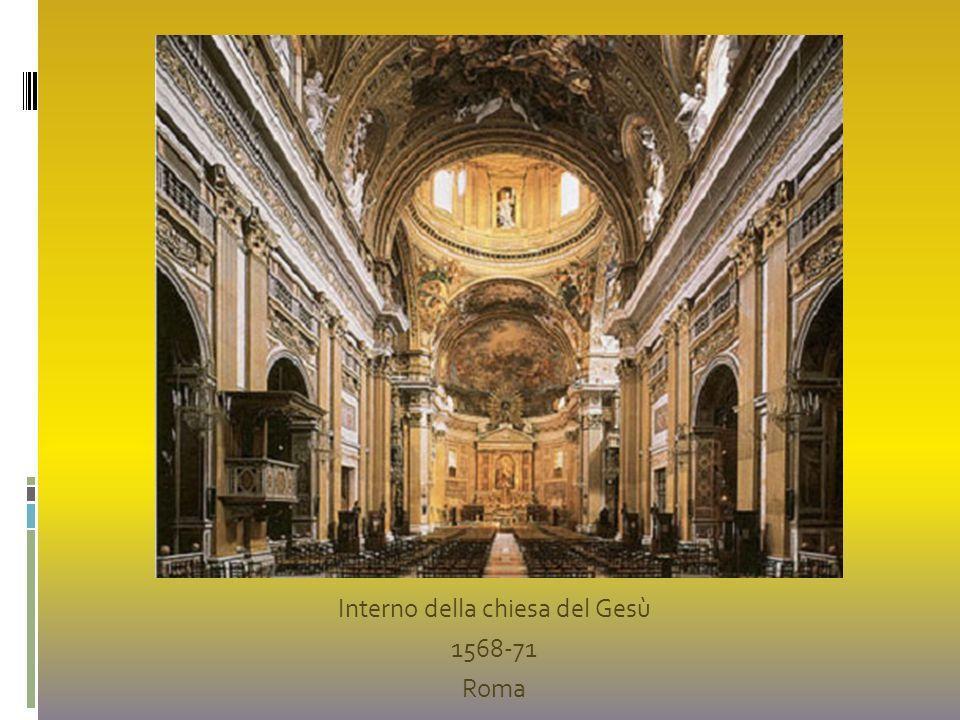 Interno della chiesa del Gesù 1568-71 Roma