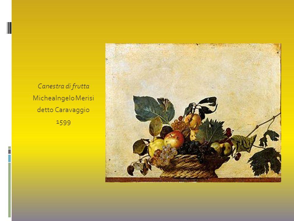 Canestra di frutta Michealngelo Merisi detto Caravaggio 1599