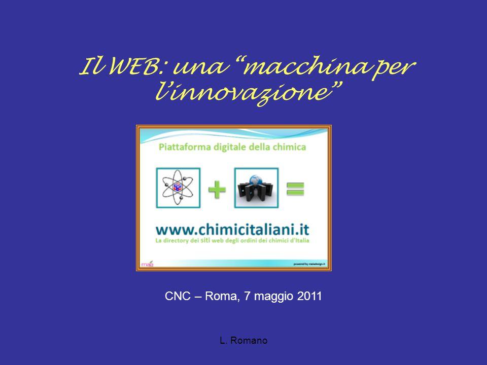 L. Romano Il WEB: una macchina per l'innovazione CNC – Roma, 7 maggio 2011