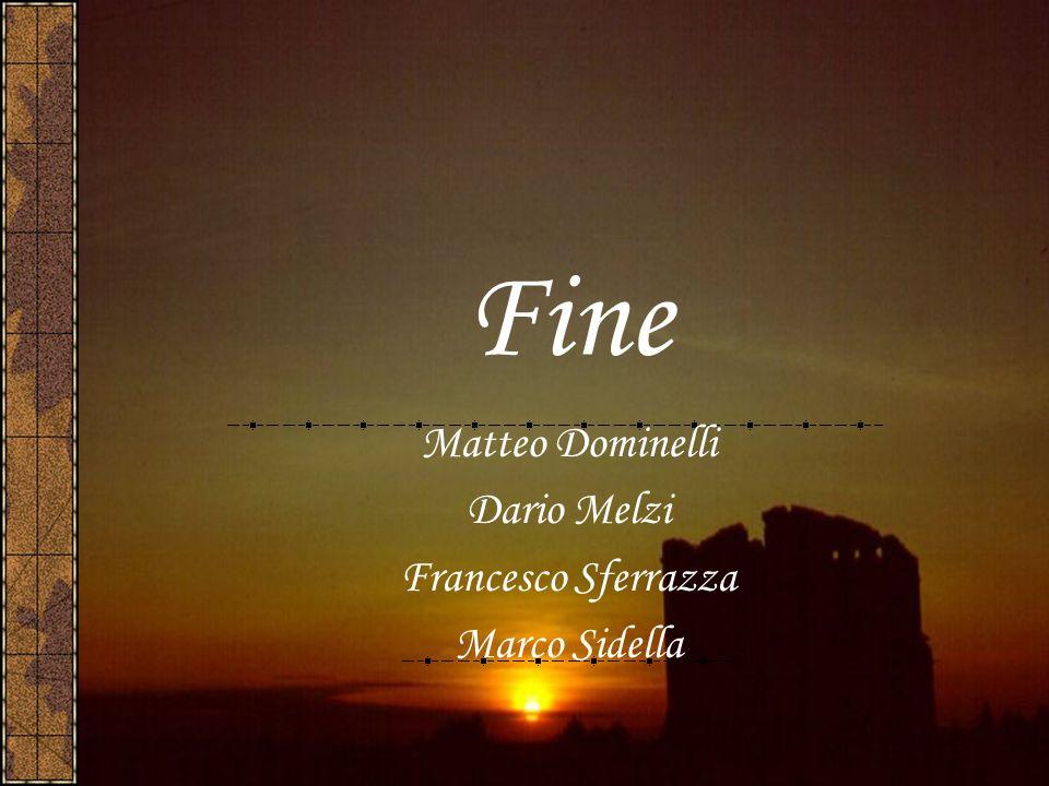 Fine Matteo Dominelli Dario Melzi Francesco Sferrazza Marco Sidella