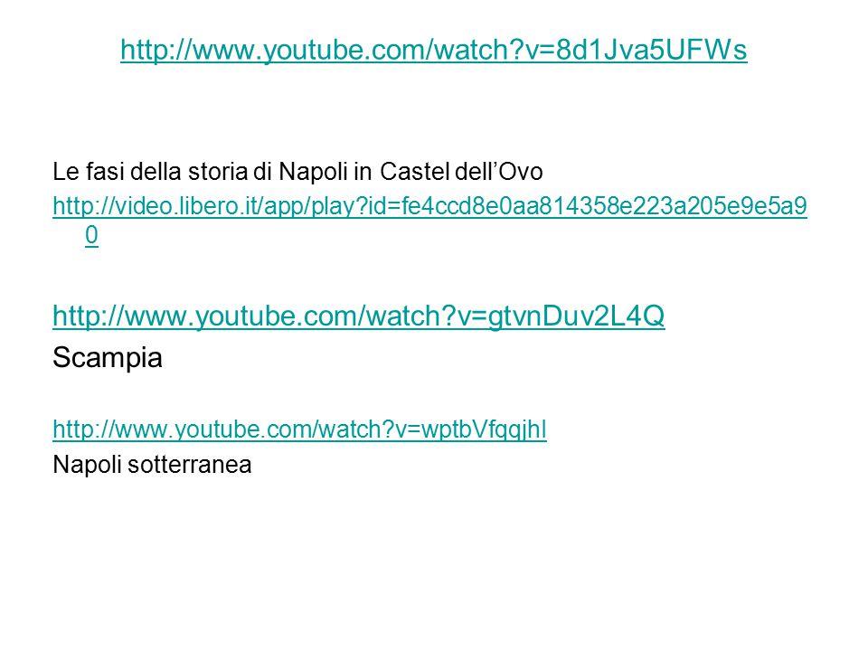 http://www.youtube.com/watch?v=8d1Jva5UFWs Le fasi della storia di Napoli in Castel dell'Ovo http://video.libero.it/app/play?id=fe4ccd8e0aa814358e223a