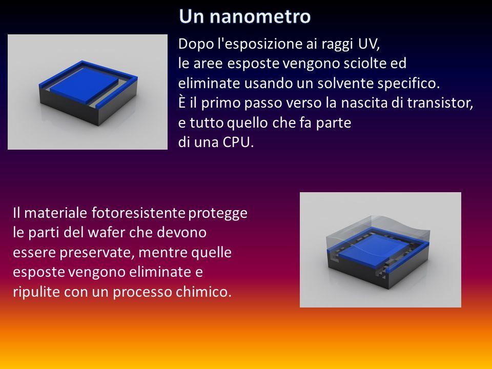 Nelle immagini potete vedere come apparirebbe un singolo transistor se fosse visibile a occhio nudo.