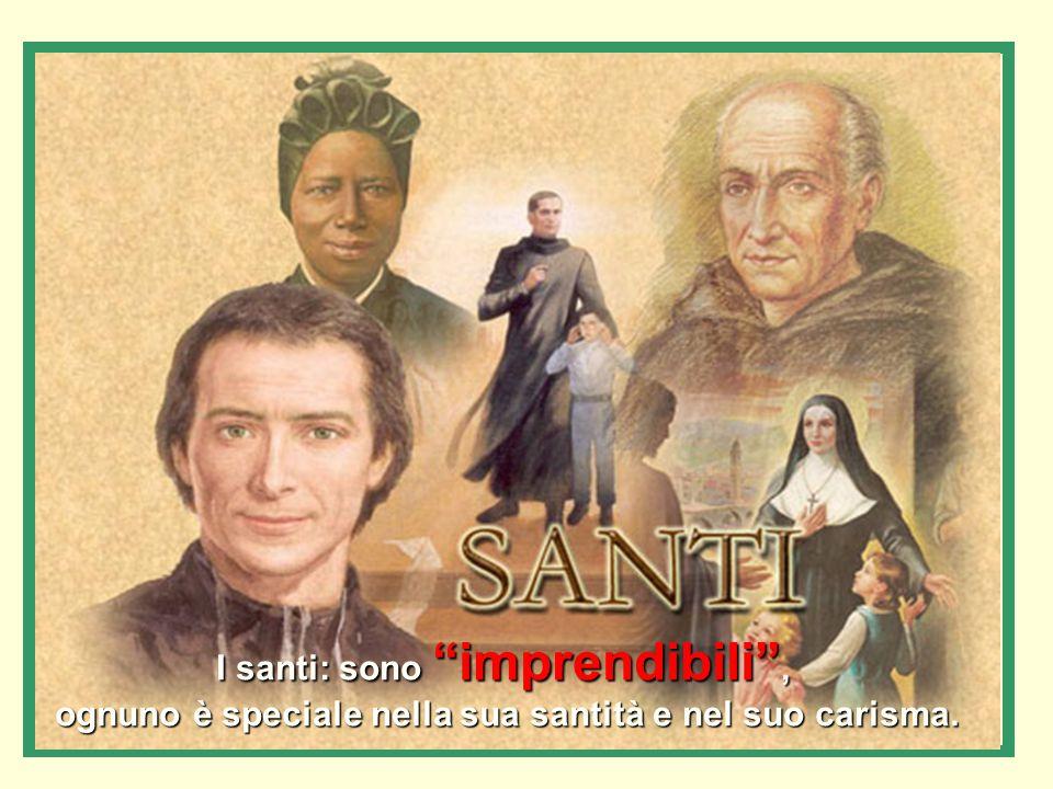 I santi: sono imprendibili , ognuno è speciale nella sua santità e nel suo carisma.