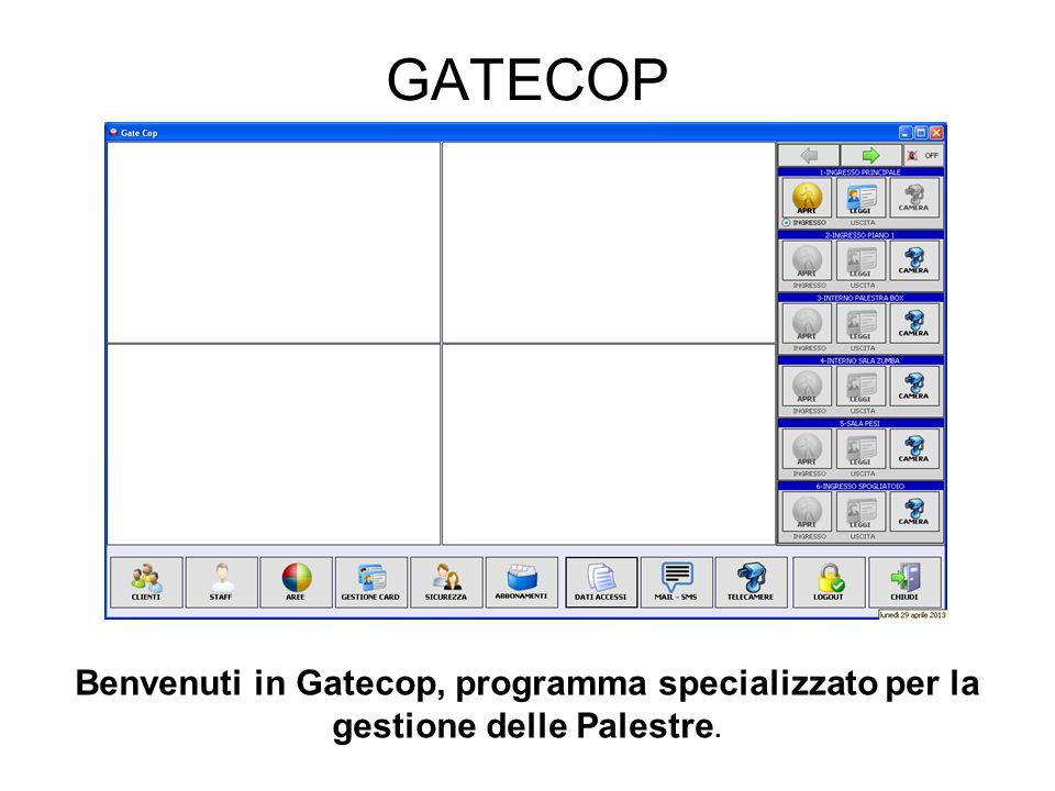 GATECOP Benvenuti in Gatecop, programma specializzato per la gestione delle Palestre.