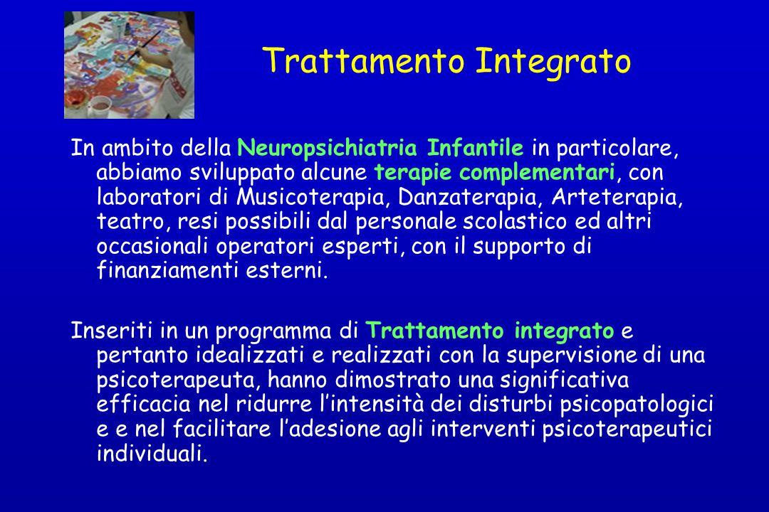 Trattamento Integrato In ambito della Neuropsichiatria Infantile in particolare, abbiamo sviluppato alcune terapie complementari, con laboratori di Mu