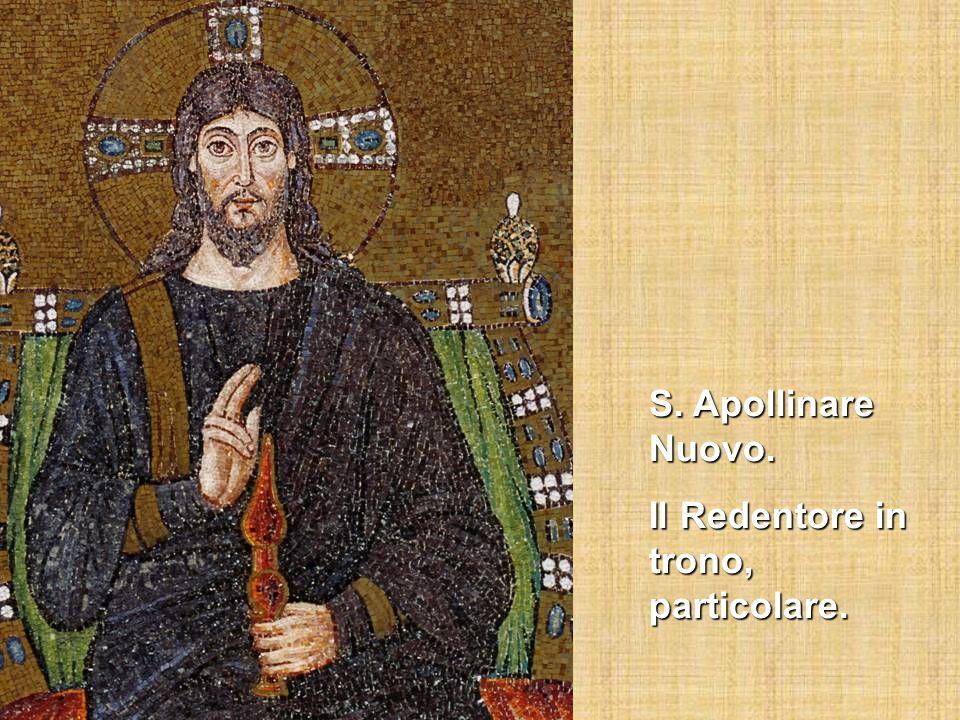 S. Apollinare Nuovo. Il Redentore in trono, particolare.