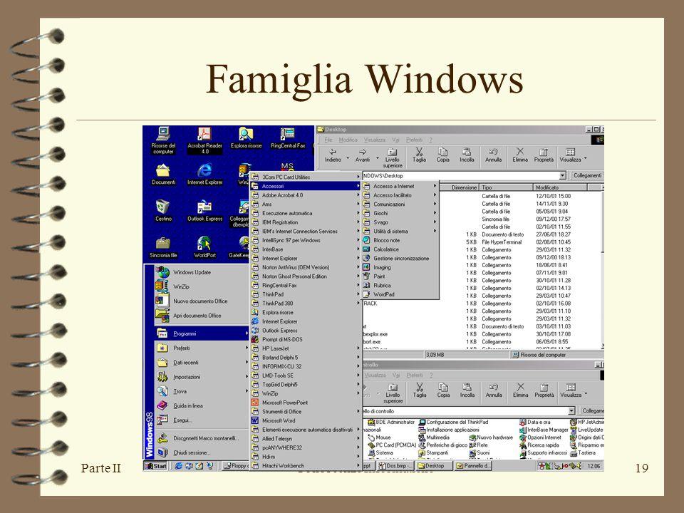 Parte IIConoscenze Informatiche19 Famiglia Windows